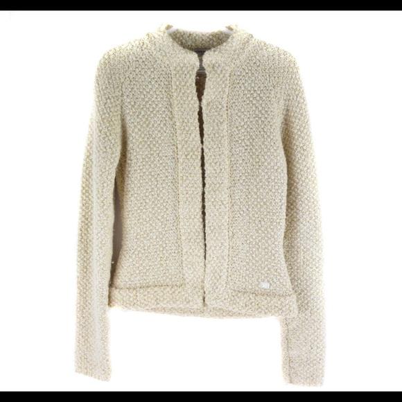 Chanel Cream Alpaca Blazer Size 46 Italy US 10